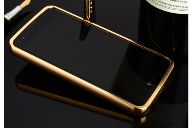 """Фирменная металлическая задняя панель-крышка-накладка из тончайшего облегченного авиационного алюминия для LG K8 K350N/ K350E 5.0"""" золотая"""