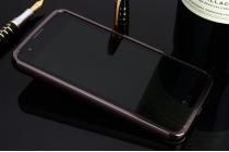 """Фирменная металлическая задняя панель-крышка-накладка из тончайшего облегченного авиационного алюминия для LG K8 K350N/ K350E 5.0"""" черная"""