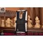 Противоударный усиленный ударопрочный фирменный чехол-бампер-пенал для LG Magna H502 белый..