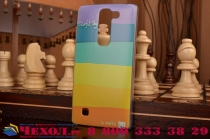 """Фирменная необычная из легчайшего и тончайшего пластика задняя панель-чехол-накладка для LG Magna H502 """"тематика Все цвета Радуги"""""""