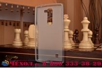 Фирменная ультра-тонкая полимерная из мягкого качественного силикона задняя панель-чехол-накладка для LG Magna H502  белая