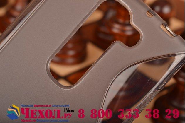 Фирменная ультра-тонкая полимерная из мягкого качественного силикона задняя панель-чехол-накладка для LG Magna H502  серая