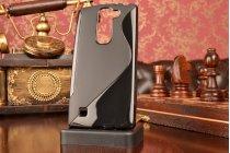 Фирменная ультра-тонкая полимерная из мягкого качественного силикона задняя панель-чехол-накладка для LG Magna H502  черная