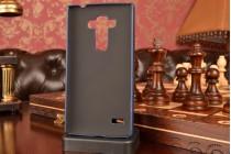"""Фирменная роскошная элитная премиальная задняя панель-крышка для LG Ray / LG Zone X190 5.5""""  из качественной кожи буйвола с визитницей синяя"""