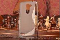 """Фирменная ультра-тонкая полимерная из мягкого качественного силикона задняя панель-чехол-накладка для LG Ray / LG Zone X190 5.5""""  серая"""
