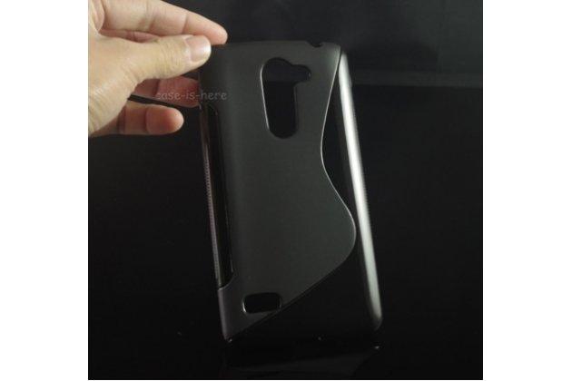 """Фирменная ультра-тонкая полимерная из мягкого качественного силикона задняя панель-чехол-накладка для LG Ray / LG Zone X190 5.5""""  черная"""