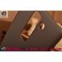 Фирменная задняя панель-крышка-накладка из тончайшего и прочного пластика для LG Spirit H422/ H440Y коричневая..