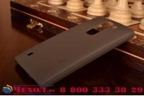 Фирменная задняя панель-крышка-накладка из тончайшего и прочного пластика для LG Spirit H422/ H440Y коричневая