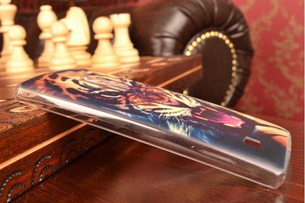"""Фирменная необычная уникальная пластиковая задняя панель-чехол-накладка для LG Spirit H422 / H420 """"тематика Тигр"""""""