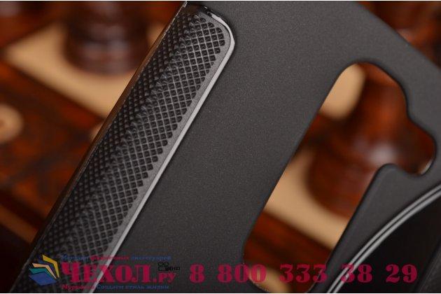 Фирменная ультра-тонкая полимерная из мягкого качественного силикона задняя панель-чехол-накладка для LG Spirit H422/ H440Y черная