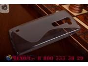 Фирменная ультра-тонкая полимерная из мягкого качественного силикона задняя панель-чехол-накладка для LG Spiri..