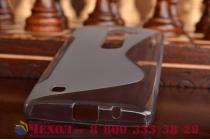 Фирменная ультра-тонкая полимерная из мягкого качественного силикона задняя панель-чехол-накладка для LG Spirit H422/ H440Y серая