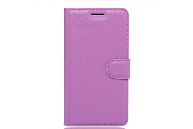 """Фирменный чехол-книжка для  LG V20 5.7"""" с визитницей и мультиподставкой фиолетовый кожаный"""