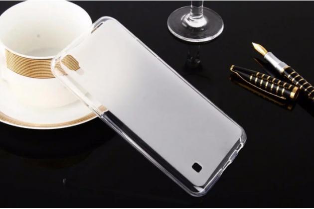 """Фирменная ультра-тонкая силиконовая задняя панель-чехол-накладка для LG X Power K220DS 5.3"""" белая"""