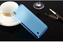 """Фирменная ультра-тонкая силиконовая задняя панель-чехол-накладка для LG X Power K220DS 5.3"""" голубая"""