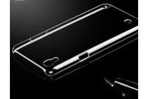"""Фирменная задняя панель-крышка-накладка из тончайшего и прочного пластика для LG X Power K220DS 5.3"""" прозрачная"""
