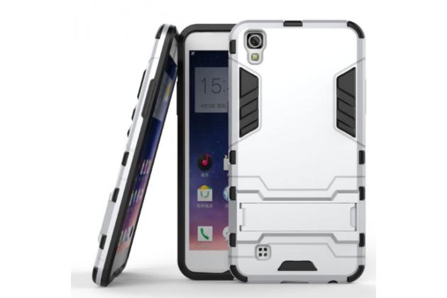 """Противоударный усиленный ударопрочный фирменный чехол-бампер-пенал для LG X Power K220DS 5.3""""  белый"""