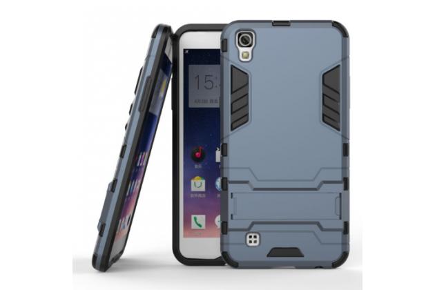 """Противоударный усиленный ударопрочный фирменный чехол-бампер-пенал для LG X Power K220DS 5.3"""" черный"""