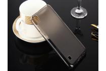 """Фирменная ультра-тонкая силиконовая задняя панель-чехол-накладка для LG X style K200DS / LG X Skin 5.0"""" серая"""