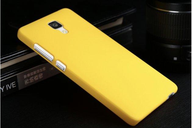"""Фирменная задняя панель-крышка-накладка из тончайшего и прочного пластика для LG X View LGK500DS / X Screen K500Y 4.93"""" желтая"""