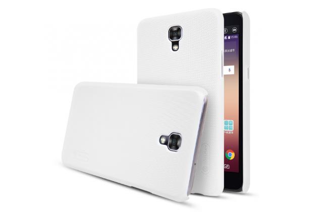 """Фирменная задняя панель-крышка-накладка из тончайшего и прочного пластика для LG X View LGK500DS / X Screen K500Y 4.93"""" белая"""