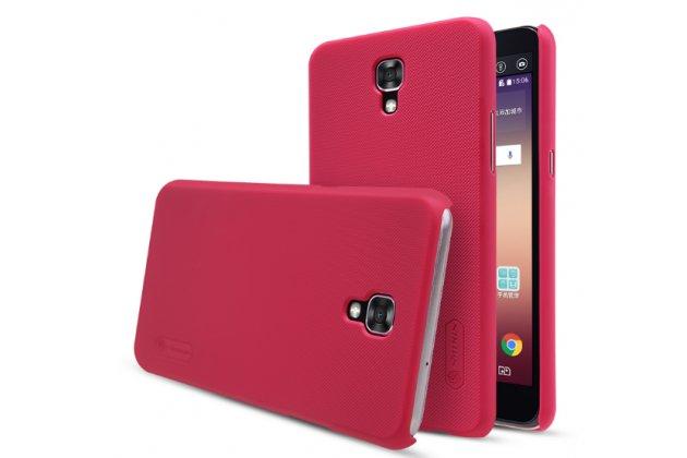 """Фирменная задняя панель-крышка-накладка из тончайшего и прочного пластика для LG X View LGK500DS / X Screen K500Y 4.93"""" красная"""
