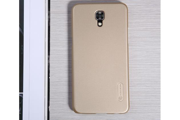 """Фирменная задняя панель-крышка-накладка из тончайшего и прочного пластика для LG X View LGK500DS / X Screen K500Y 4.93"""" золотая"""
