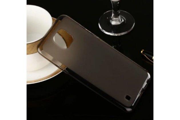 Фирменная ультра-тонкая силиконовая задняя панель-чехол-накладка для LG X cam K580DS 5.2 черная