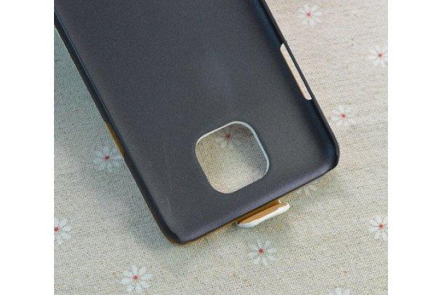 """Фирменный вертикальный откидной чехол-флип для LG X cam K580DS 5.2 """"тематика Бабочка"""" кожаный"""