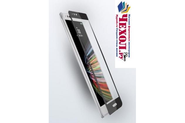 Фирменное 3D защитное изогнутое стекло с закругленными изогнутыми краями которое полностью закрывает экран / дисплей по краям с олеофобным покрытием для LG X cam K580DS