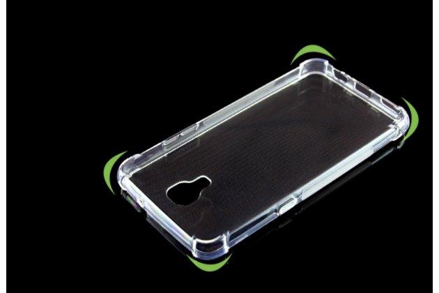"""Фирменная ультра-тонкая полимерная из мягкого качественного силикона задняя панель-чехол-накладка для LG X View LGK500DS / X Screen K500Y 4.93"""" прозрачный"""