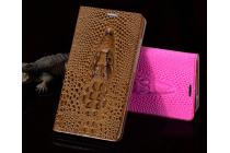 """Фирменный роскошный эксклюзивный чехол с объёмным 3D изображением кожи крокодила коричневый для LG X View LGK500DS / X Screen K500Y 4.93"""". Только в нашем магазине. Количество ограничено"""