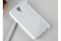 """Фирменная ультра-тонкая полимерная из мягкого качественного силикона задняя панель-чехол-накладка для LG X View LGK500DS / X Screen K500Y 4.93"""" белая"""