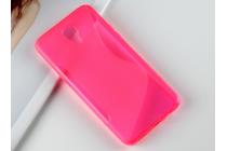 """Фирменная ультра-тонкая полимерная из мягкого качественного силикона задняя панель-чехол-накладка для LG X View LGK500DS / X Screen K500Y 4.93"""" розовая"""