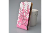 """Фирменный уникальный необычный чехол-флип для  LG X View LGK500DS / X Screen K500Y 4.93"""" """"тематика цветок Сакуры"""""""