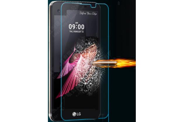 """Фирменное защитное закалённое противоударное стекло премиум-класса из качественного японского материала с олеофобным покрытием для телефона LG X View LGK500DS / X Screen K500Y 4.93"""""""