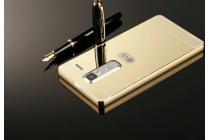 """Фирменная металлическая задняя панель-крышка-накладка из тончайшего облегченного авиационного алюминия для LG Zero/LG Class H740 /H650E 5.0""""   золотая"""