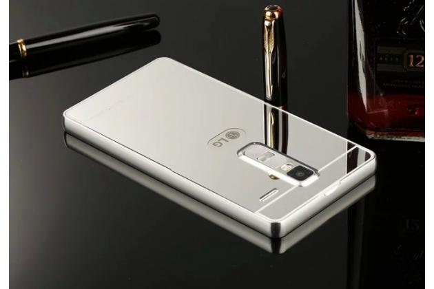 """Фирменная металлическая задняя панель-крышка-накладка из тончайшего облегченного авиационного алюминия для LG Zero/LG Class H740 /H650E 5.0""""   серебрянная"""