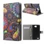 Фирменный уникальный необычный чехол-подставка с визитницей кармашком для LG Bello 2/ Prime 2 X155 5.0