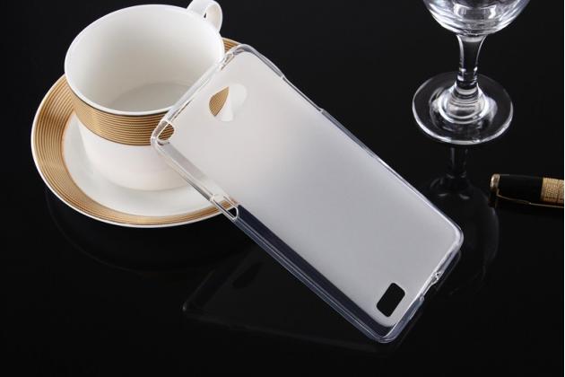 """Фирменная ультра-тонкая силиконовая задняя панель-чехол-накладка для LG Bello 2/ Prime 2 X155 / LG Max X155 5.0""""  белая"""