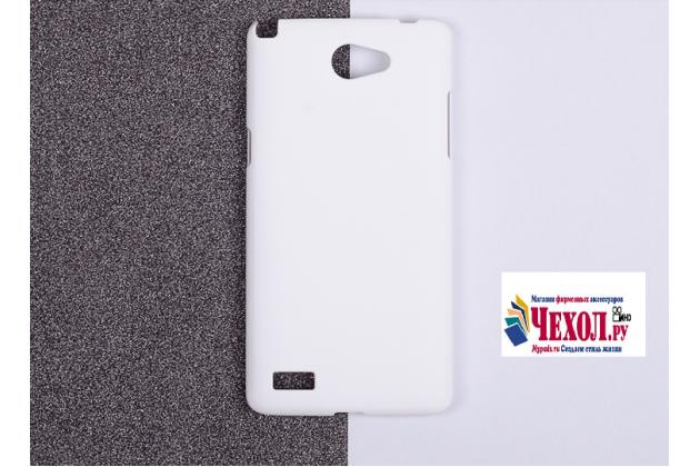 """Фирменная задняя панель-крышка-накладка из тончайшего и прочного пластика для LG Bello 2/ Prime 2 X155 / LG Max X155 5.0""""  белая"""