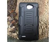 Противоударный усиленный ударопрочный фирменный чехол-бампер-пенал для LG Bello 2/ Prime 2 X155 / LG Max X155 ..