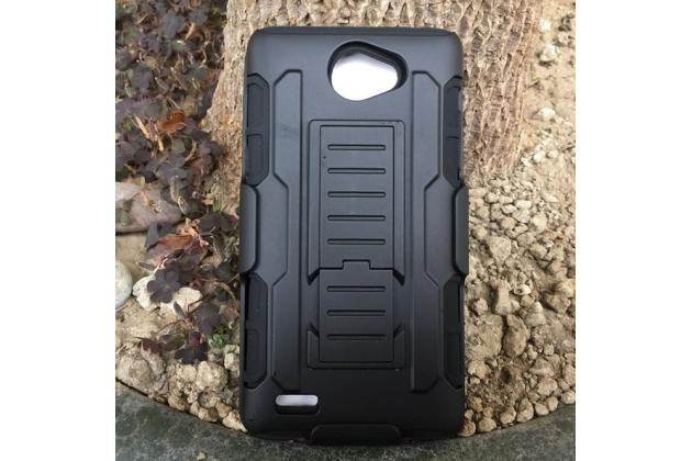 """Противоударный усиленный ударопрочный фирменный чехол-бампер-пенал для LG Bello 2/ Prime 2 X155 / LG Max X155 5.0""""  черный"""