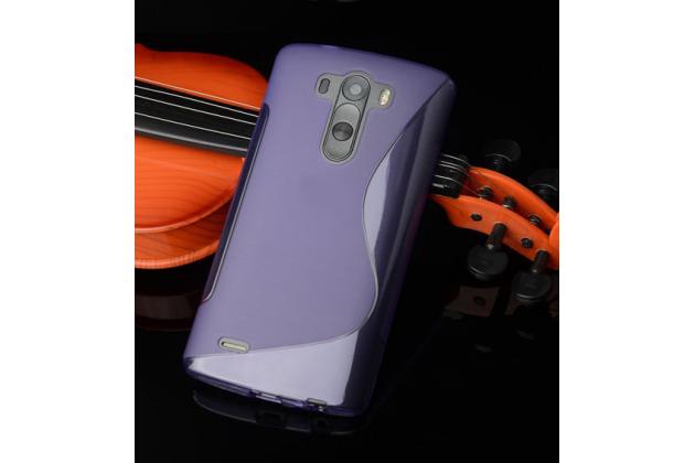 Фирменная ультра-тонкая полимерная из мягкого качественного силикона задняя панель-чехол-накладка для LG G4 Beat / G4s фиолетовая