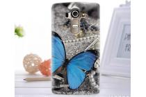 """Фирменная уникальная задняя панель-крышка-накладка из тончайшего пластика для LG G4 Beat / G4s с объёмным 3D рисунком """"тематика Бабочка"""""""