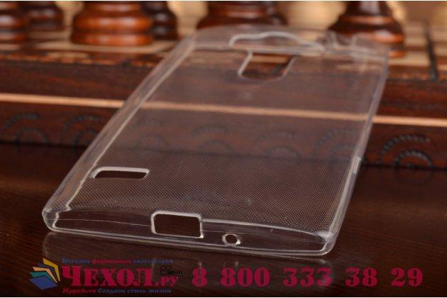 Фирменная ультра-тонкая полимерная из мягкого качественного силикона задняя панель-чехол-накладка для  LG G4 Beat / G4s белая