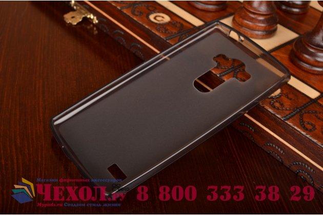 Фирменная ультра-тонкая полимерная из мягкого качественного силикона задняя панель-чехол-накладка для  LG G4 Beat / G4s черная