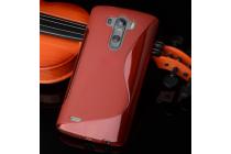 Фирменная ультра-тонкая полимерная из мягкого качественного силикона задняя панель-чехол-накладка для LG G4 Beat / G4s красная