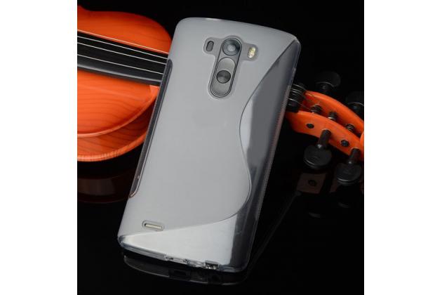 Фирменная ультра-тонкая полимерная из мягкого качественного силикона задняя панель-чехол-накладка для LG G4 Beat / G4s серая