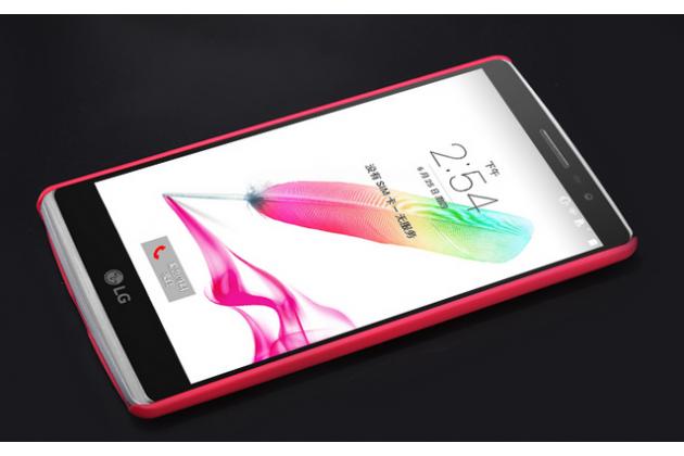 Фирменная задняя панель-крышка-накладка из тончайшего и прочного пластика для LG G4 Beat / G4s красная